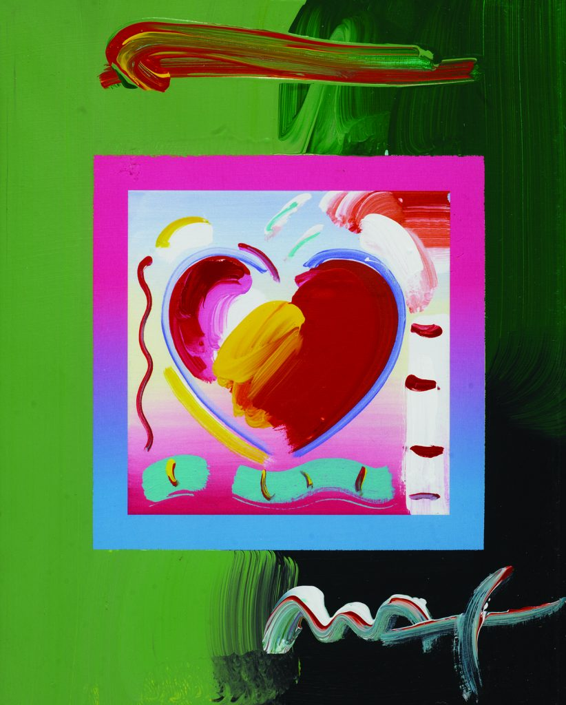 Peter Max Hearts on Blends Park West Gallery