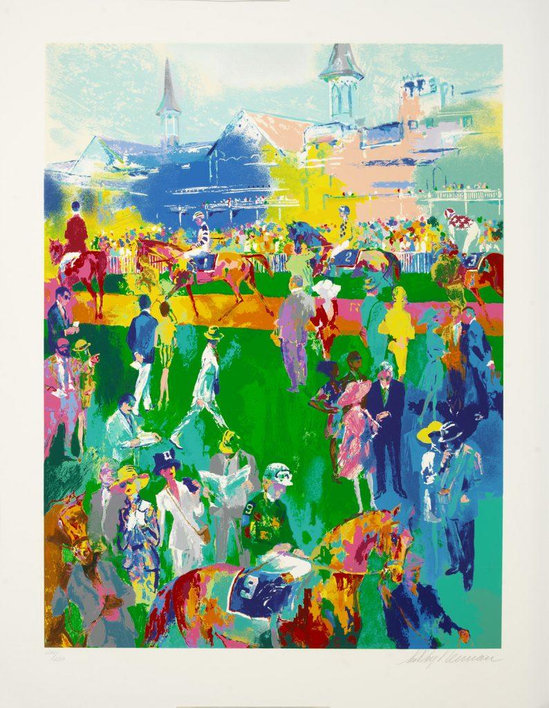Park West Gallery Derby Day Paddock LeRoy Neiman