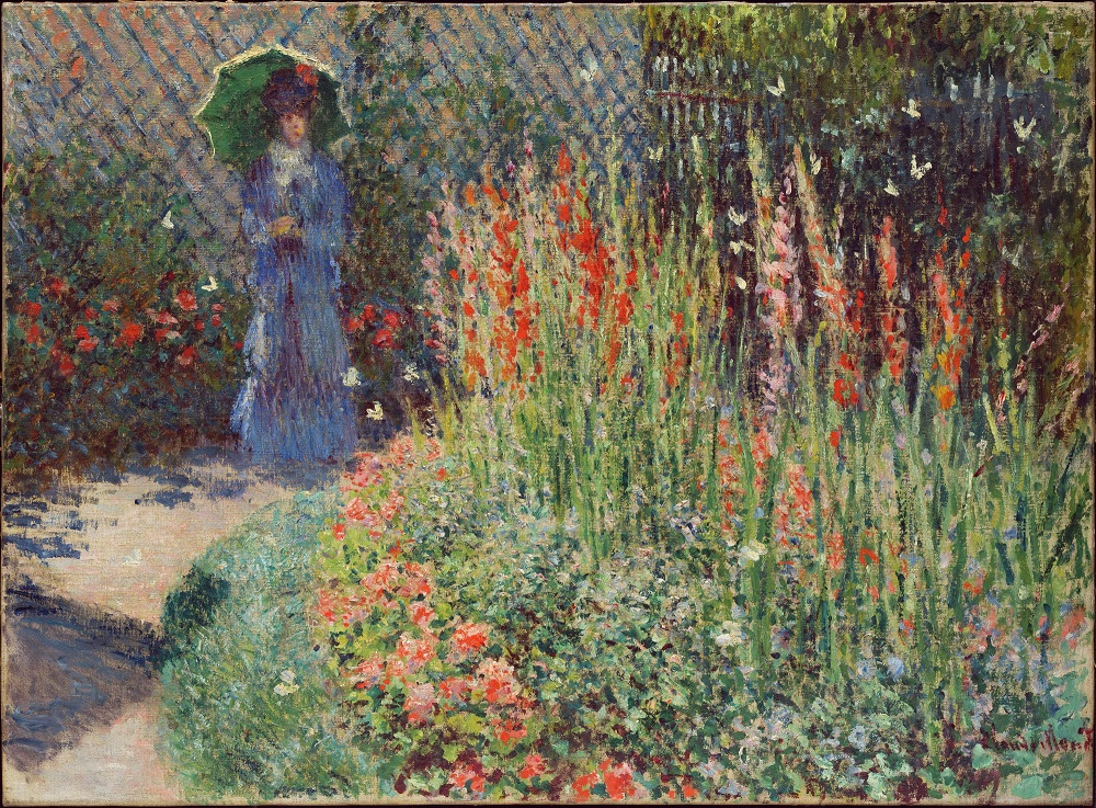 """Rounded Flower Bed (Corbeille de fleurs)"" (1876), Claude Monet."