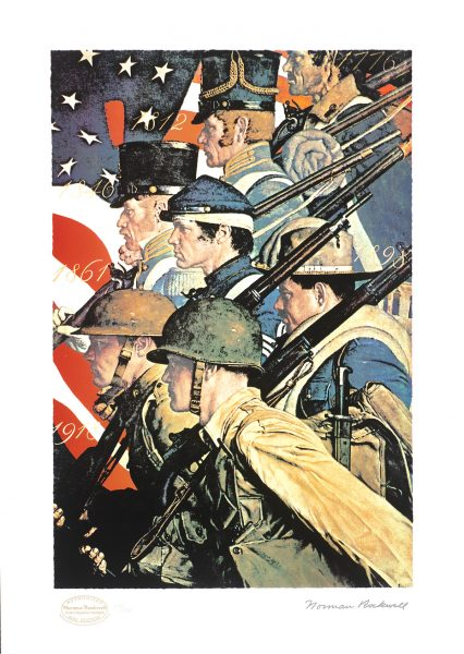 Norman Rockwell A Pictorial History of the United States Army