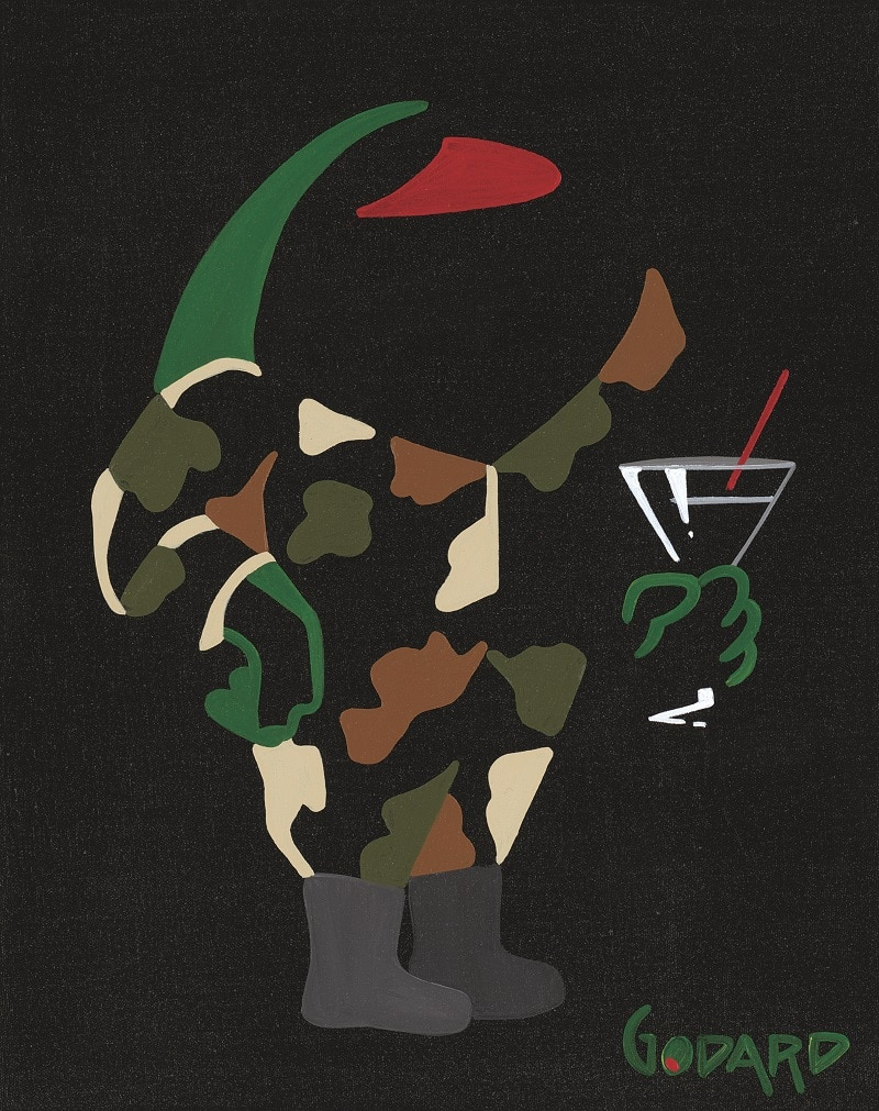 """Olive in Fatigues with Martini,"" Michael Godard"