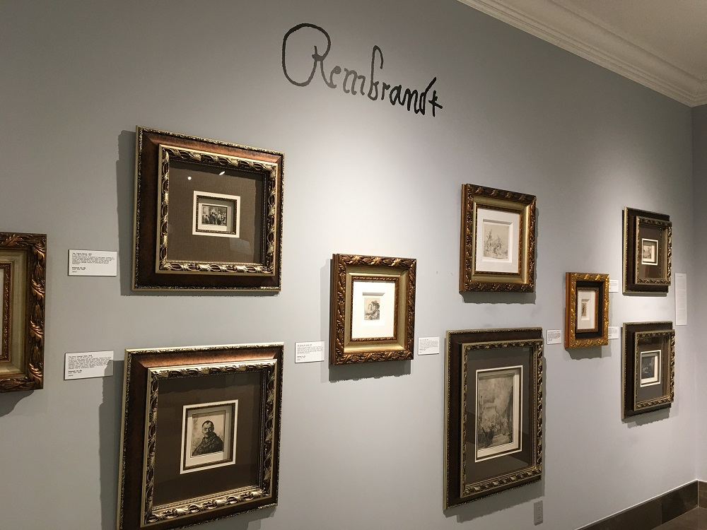 The Rembrandt etching gallery at Park West Museum