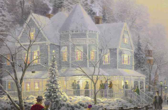 Thomas Kinkade Holiday Gathering Park West Gallery