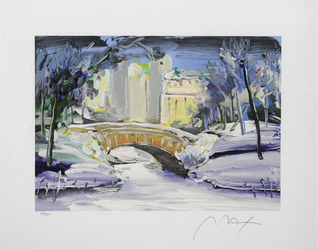 """Central Park Winter"" (2006), Peter Max"