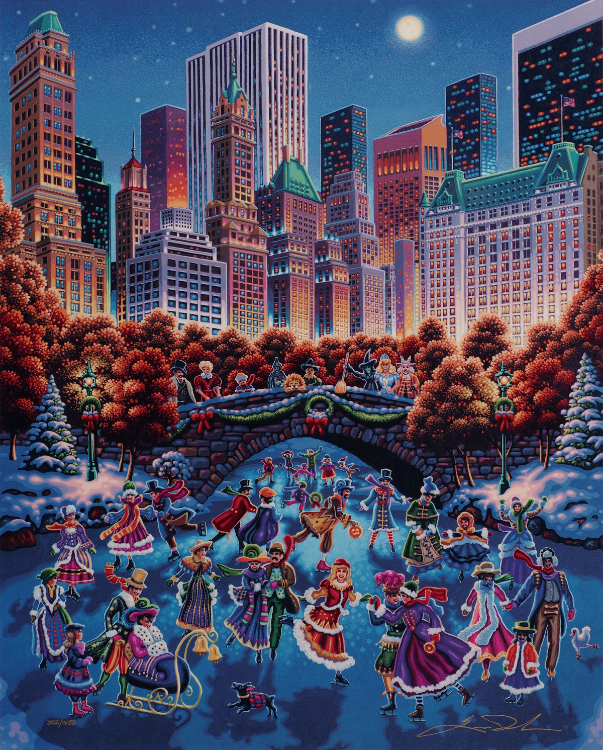 """Central Park"" (2016), Eric Dowdle, Park West Gallery Winter Art"