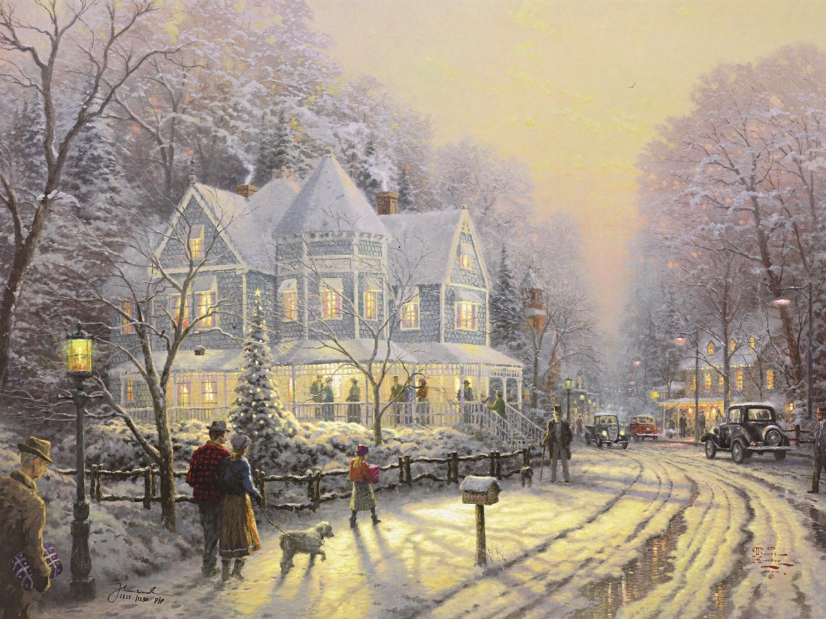 """A Holiday Gathering"" (1998), Thomas Kinkade"