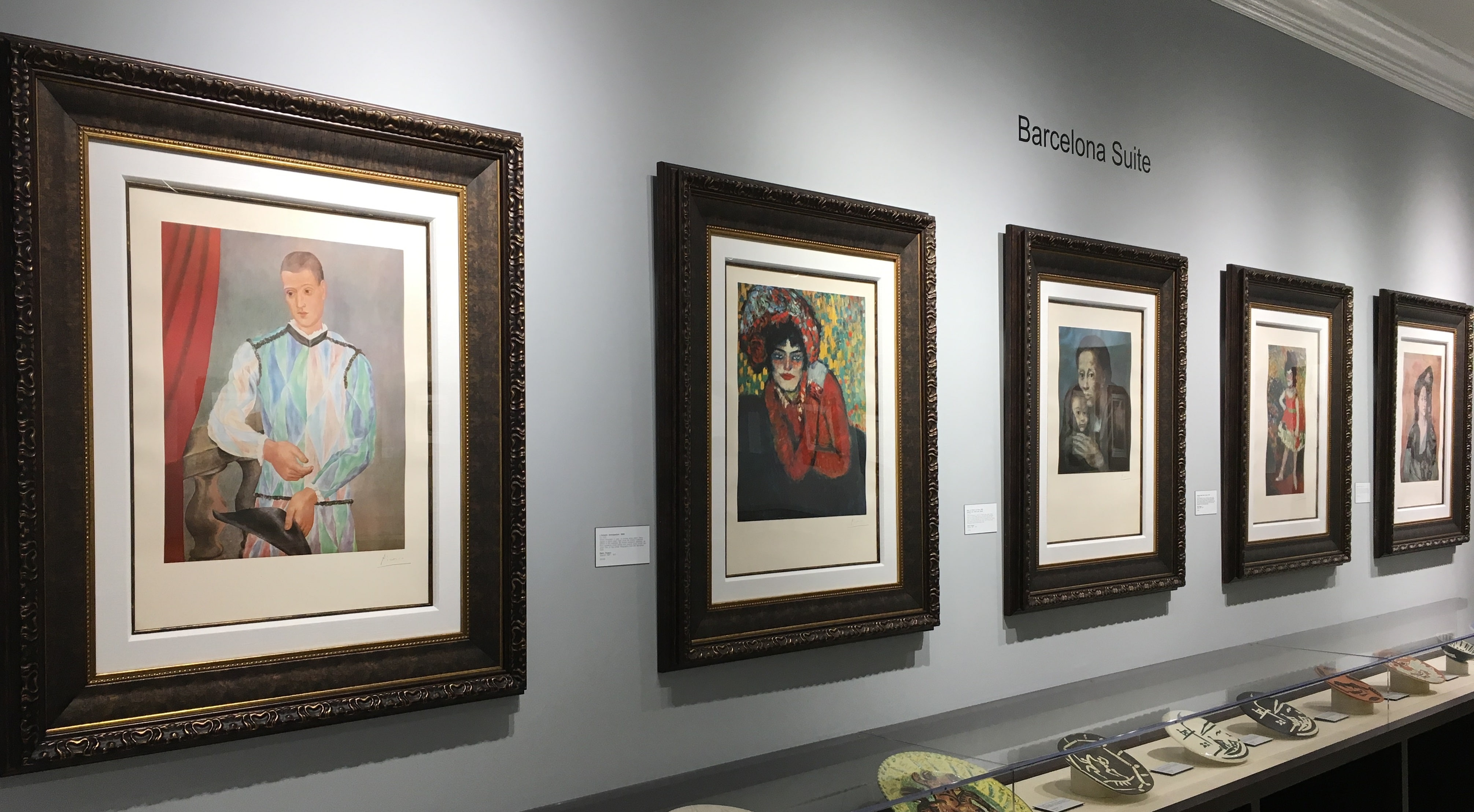"The ""Barcelona Suite"" gallery in the Picasso salon at Park West Museum"