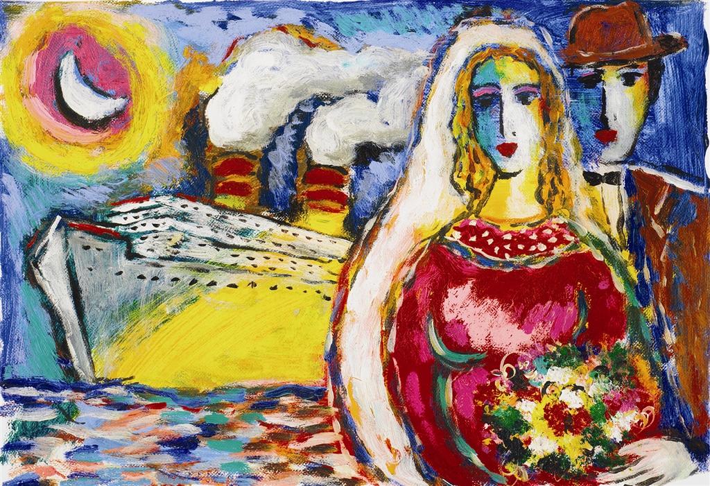 """""""Moonlit Cruise"""" (2005), Zamy Steynovitz, cruise ship art"""
