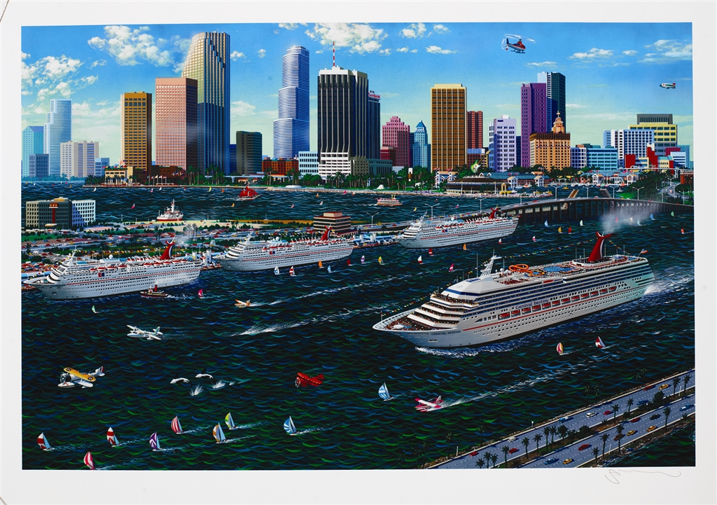 """""""Miami Cruising"""" (1997), Alexander Chen, cruise ship art"""