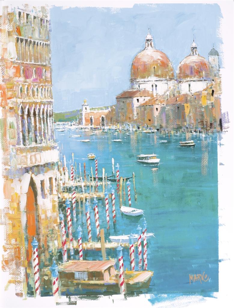 """Cruising the Grand Canal"" (2016), Marko Mavrovich, cruise ship art"