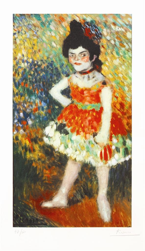 """""""Danseuse Naine (Dwarf Dancer)"""" (1901), Pablo Picasso, Barcelona Suite"""