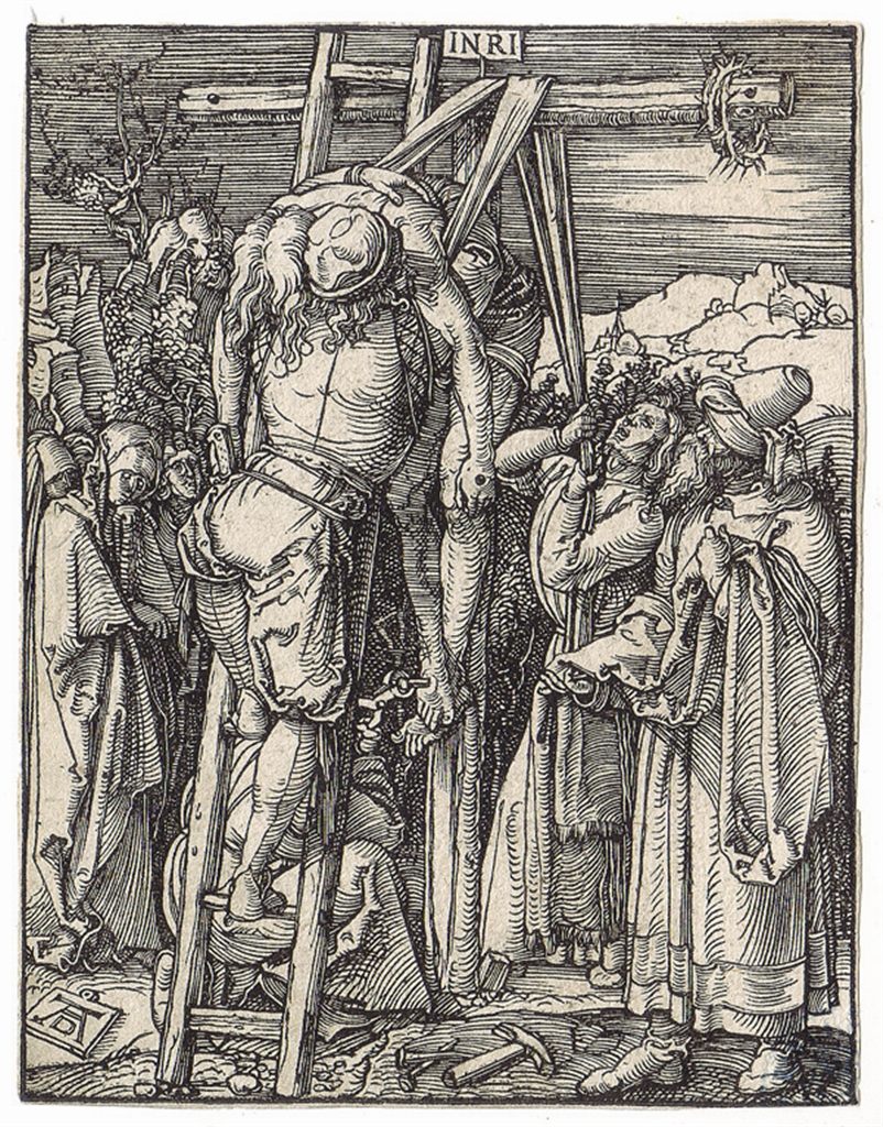"""The Descent from the Cross"" (c. 1508-1510), Albrecht Dürer, woodcut from ""The Small Passion"""
