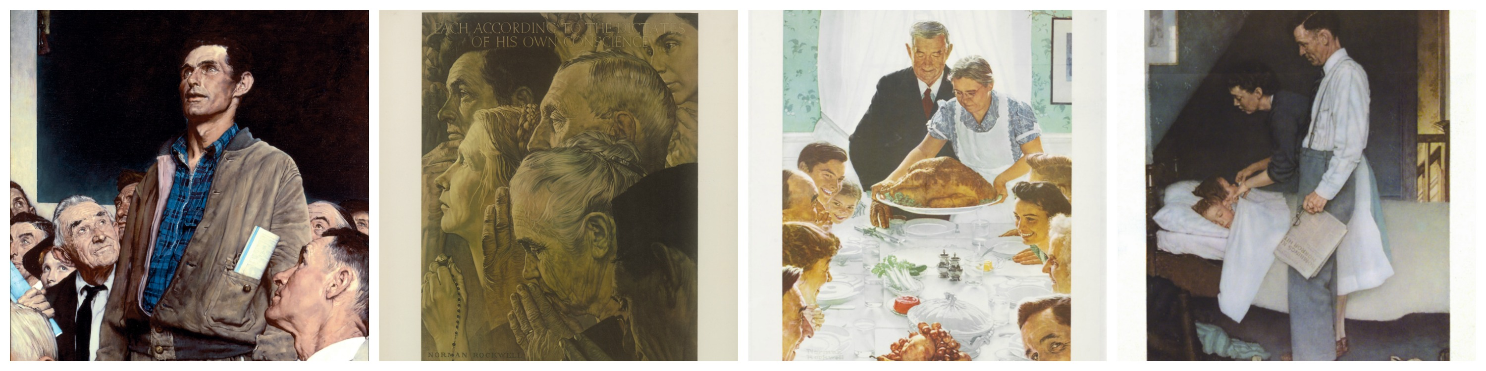 "Norman Rockwell's ""Four Freedoms"" (1943)"