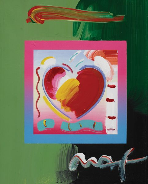 love in art Hearts on Blends Peter Max Park West Gallery