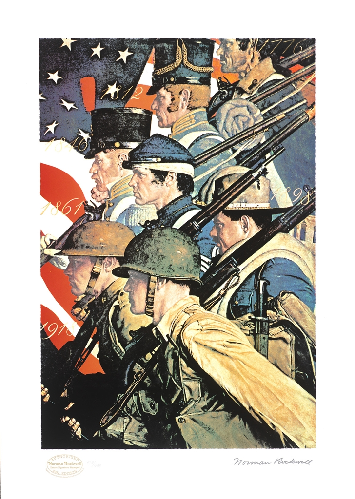 """A Pictorial History of the United States Army"" (c. 1940), Norman Rockwell"