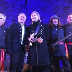 Gary Puckett and the New Union Gap at a Park West VIP event in February 2018. (Left to Right) Park West Gallery director Morris Shapiro, Scott Jacobs, Gary Puckett, Patrick Guyton, VIP auctioneer Jason Betteridge