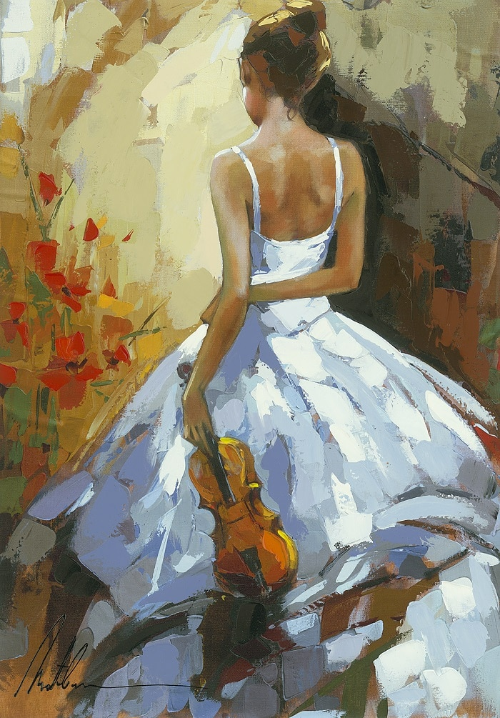 """Throwing Flowers,"" Anatoly Metlan"