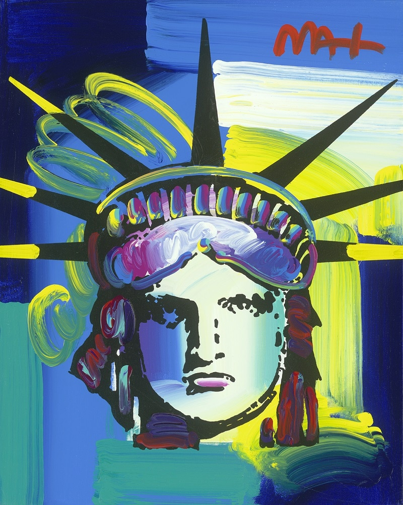 """Liberty Head ver. XII #218,"" Peter Max"