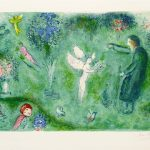"""Philetas's Orchard"" (1961), Marc Chagall. From the Daphis and Chloé suite. On display at Park West Museum."