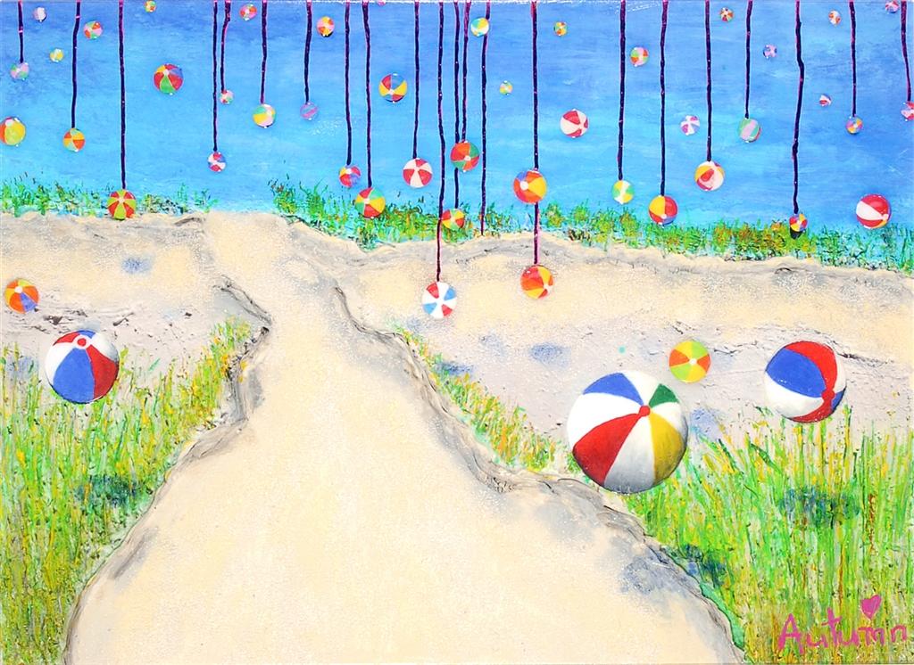 """""""Dripping Summer"""" (2015), Autumn de Forest, Park West Gallery, summer art"""