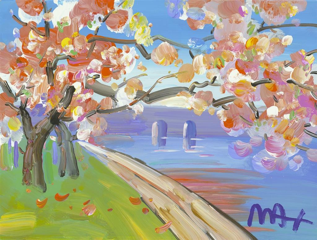 """Cherry Blossom I Ver. III #330"" (2017), Peter Max, Park West Gallery, summer art"
