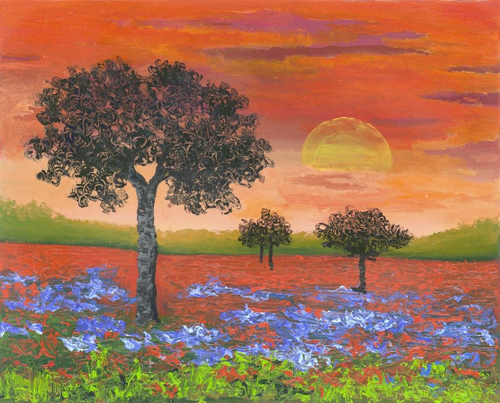"""""""Glowing Skies"""" (2016), David Najar, Park West Gallery, summer art"""
