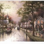 """Hometown Morning,"" Thomas Kinkade"