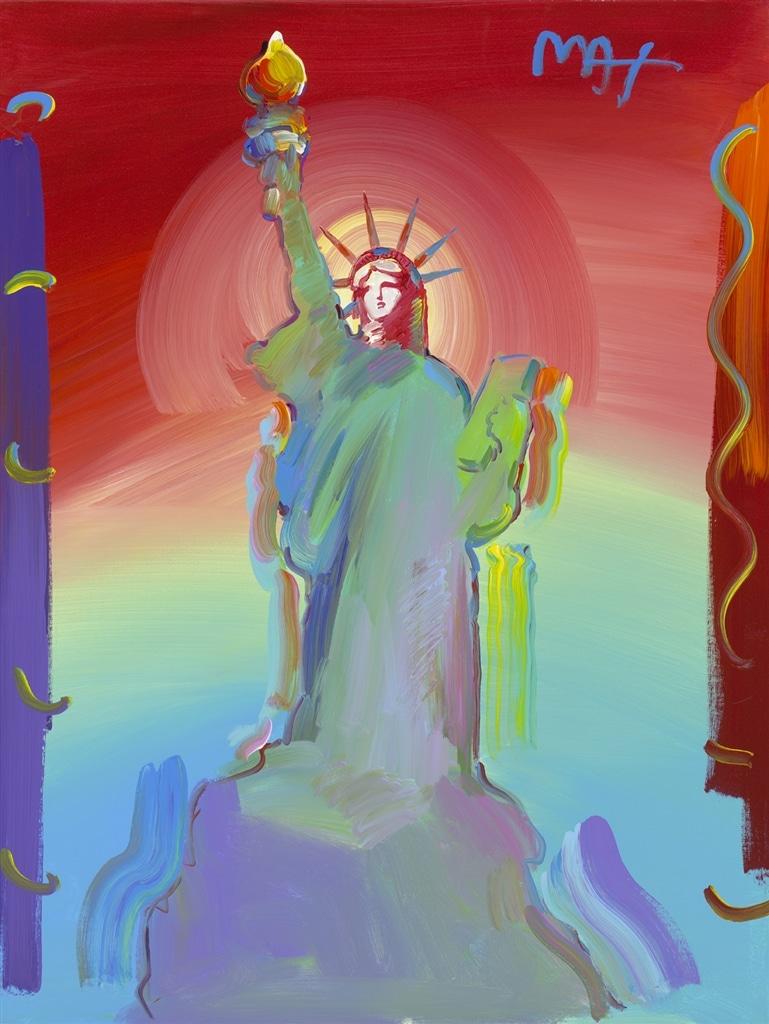 """Statue of Liberty Ver. VIII #104"" (2017), Peter Max"