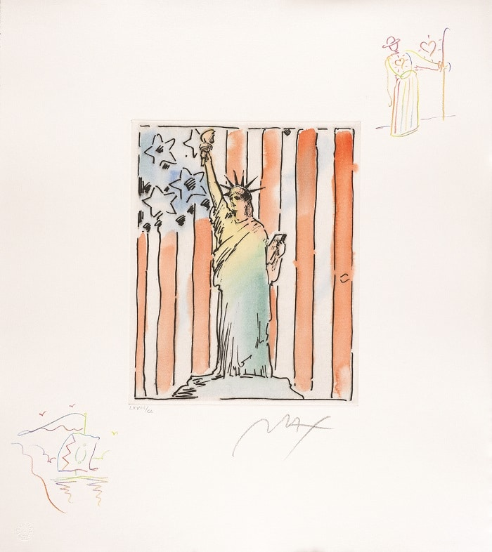 """United We Stand II,"" Peter Max"