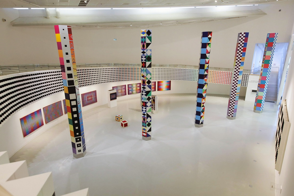 The interior of the Yaacov Agam Museum of Art in Rishon LeZion, Israel.