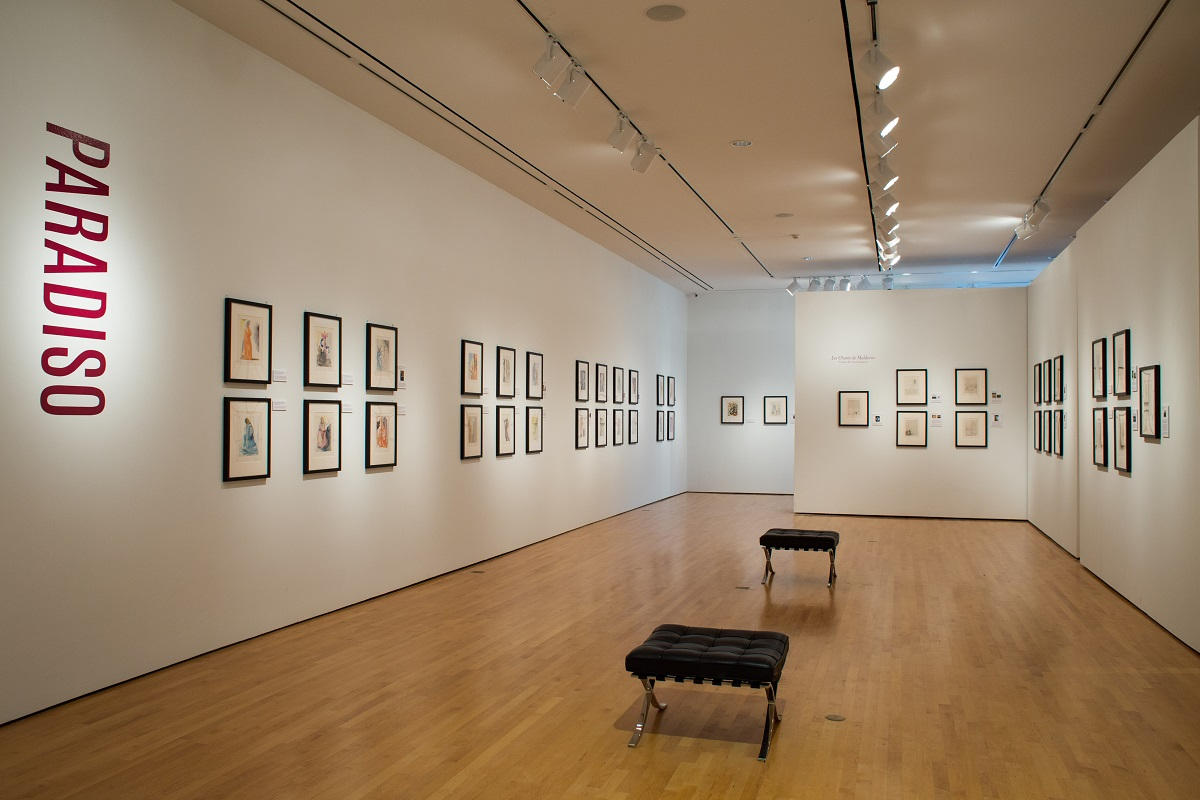 "One of the galleries featuring ""Salvador Dalí's Stairway to Heaven"" at Louisiana's Hilliard University Art Museum."