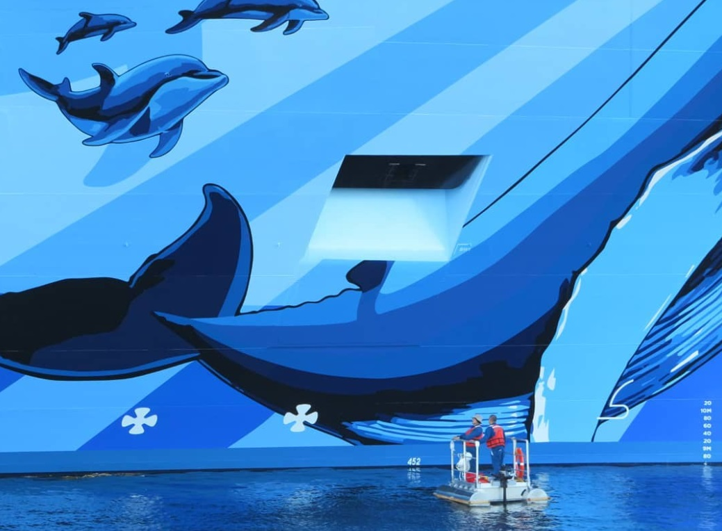 From @ericatsea: Norwegian Bliss cruise ship art