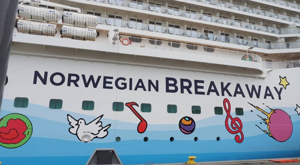 From @svensenfoto: Norwegian Breakaway cruise ship art