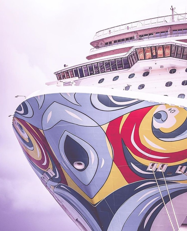 From @youdeservewhatyoudream: Norwegian Getaway cruise ship art