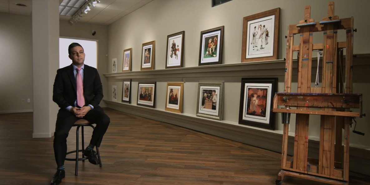 Gallery Director David Gorman discussing Norman Rockwell's legacy