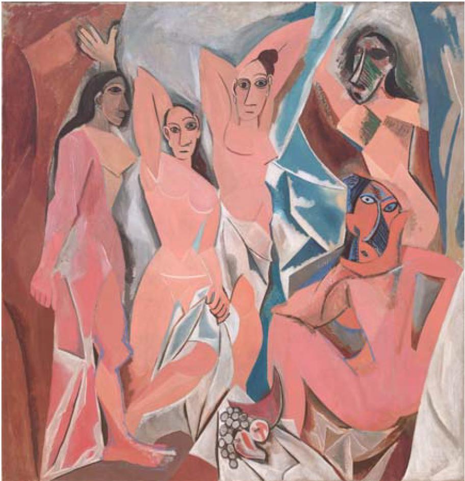 """""""Les Demoiselles d'Avignon,"""" Pablo Picasso."""