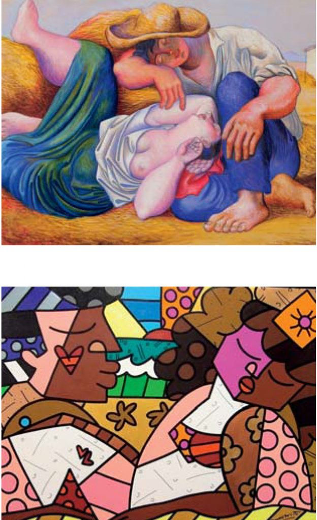 Top: Pablo Picasso / Bottom: Romero Britto