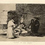 """Caridad de una muger"" (A Woman's Charity, 1810-1820), Francisco Goya. Etching, lavis, burin, and burnisher on wove paper."