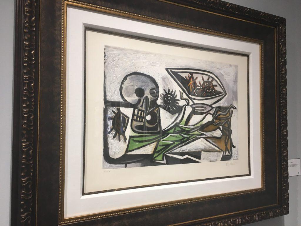"""""""Nature Morte au Crane"""" (c. 1960), Pablo Picasso, aquatint."""
