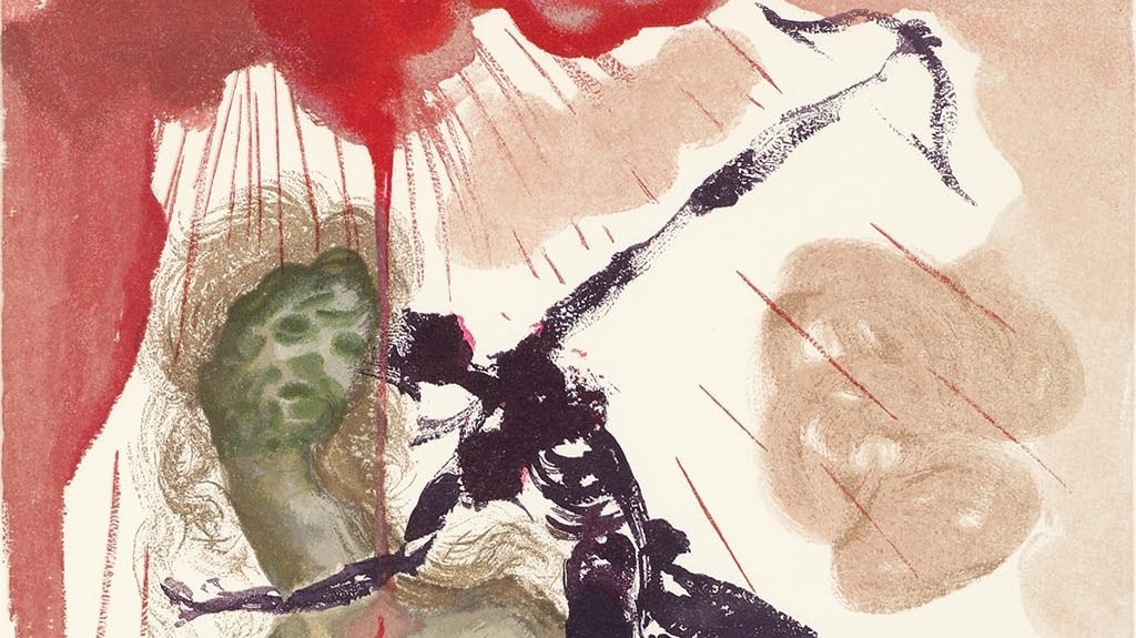 """Detail from """"Minotaur"""" (Le minotaure; 1960). From Dalí's """"Divine Comedy—Inferno 12."""""""