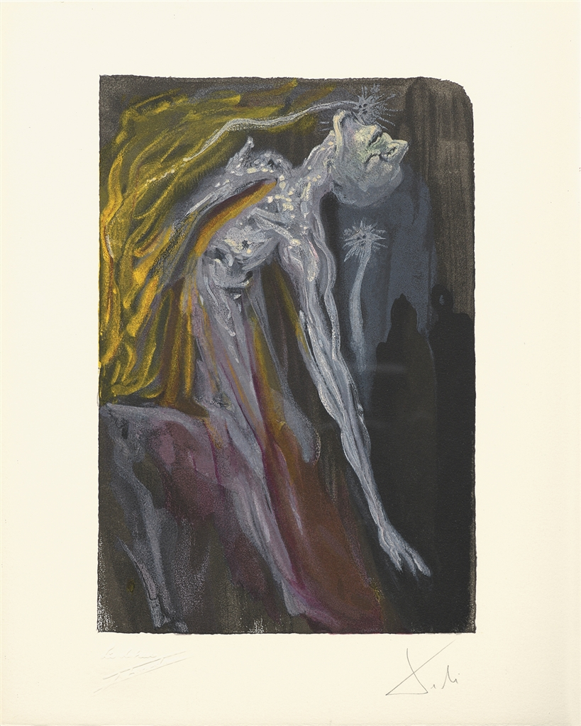 """""""Erinnyes"""" (Les erinnyes; 1959-1963). From Dalí's """"Divine Comedy—Inferno 9."""""""