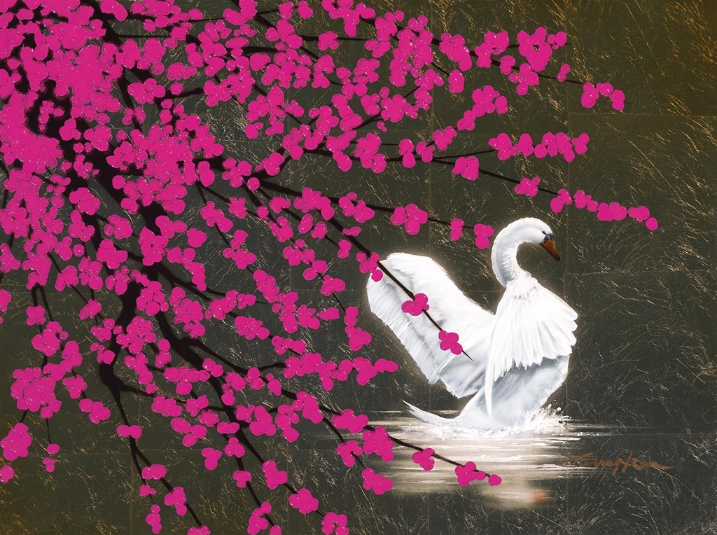 """Swan with Blossom,"" Patrick Guyton"
