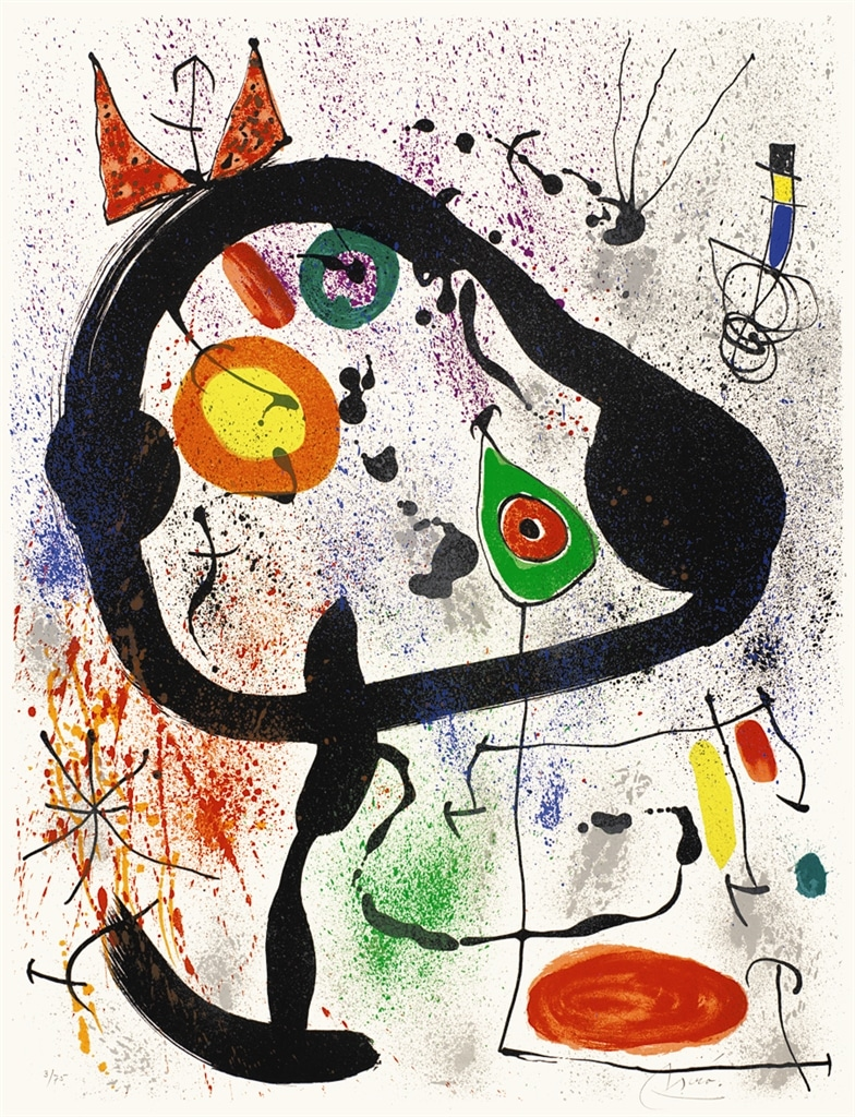"""The Seers III"" (1970, M.663). From Joan Miró's ""Broder Collection."""
