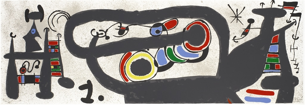 """Le Lezard aux Plumes d'or II"" (1971, M.828). From Joan Miró's ""Broder Collection."""