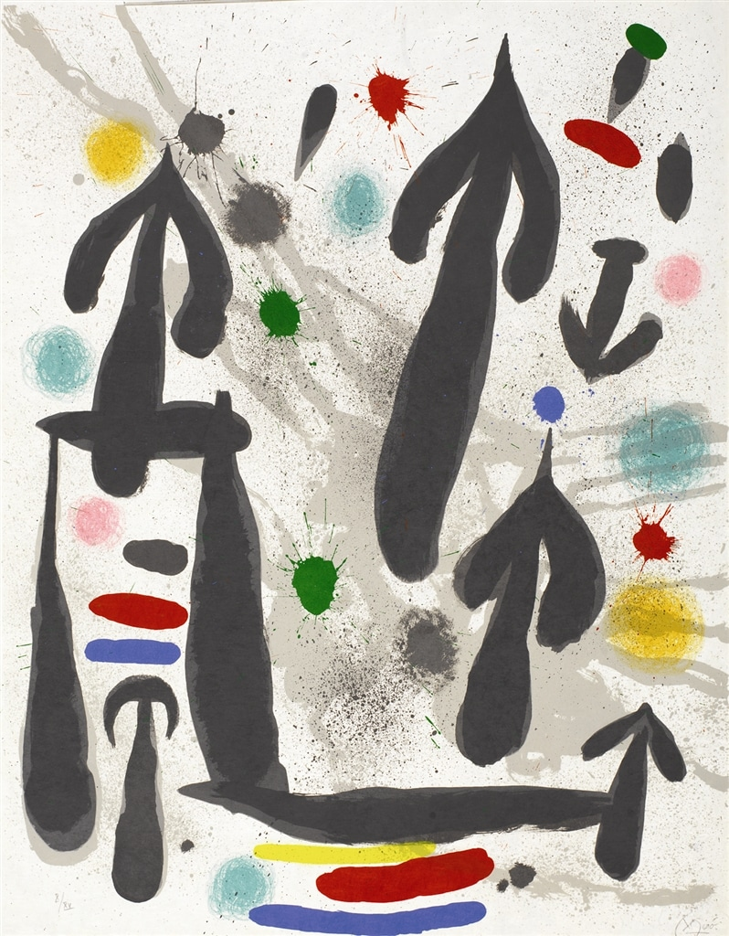 """Les Perseides"" (1970, M.659). From Joan Miró's ""Broder Collection."""