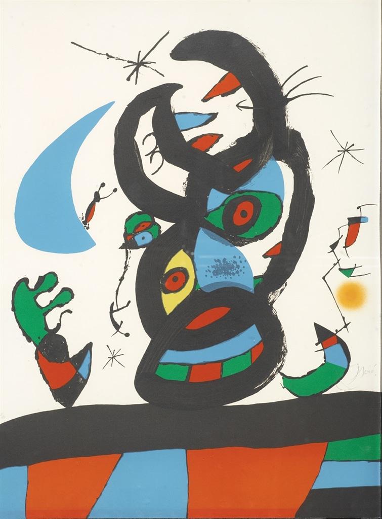 """Montroig I"" (1974, M.953), Joan Miró"