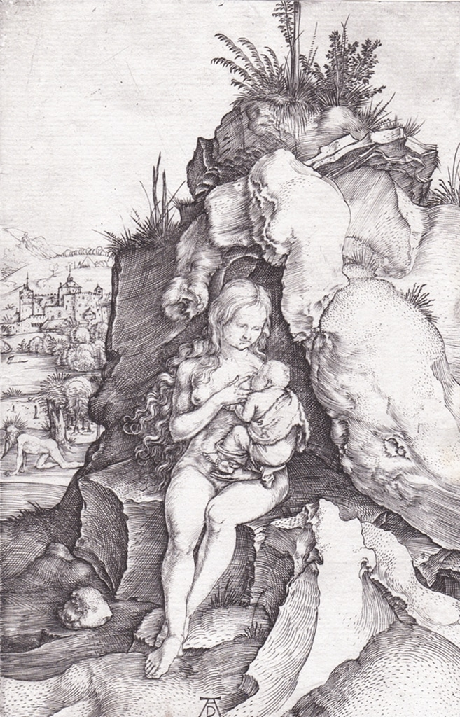 """The Penance of St. John Chrysostom"" (c. 1497), an example of the kind of engraving by Albrecht Dürer that Morris Shapiro shared with the SUNY's Davis Scholars."