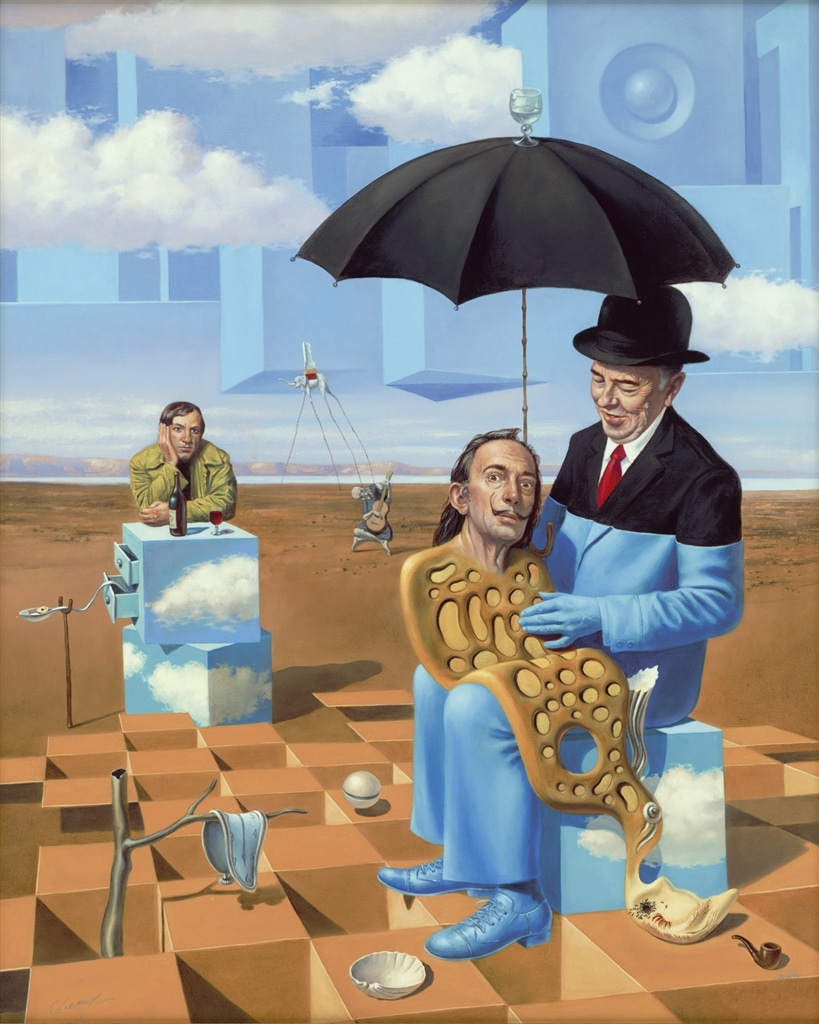 """Lullaby of Uncle Magritte"" (2016), Michael Cheval, Surrealism, Surrealist Art"