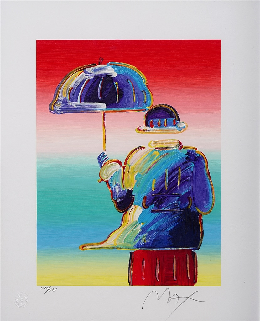 """Umbrella Man"" (2016), Peter Max"