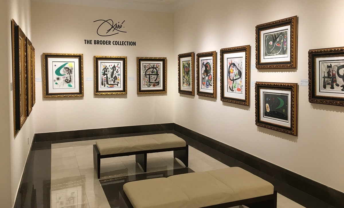 The Broder Collection gallery at Park West Museum.